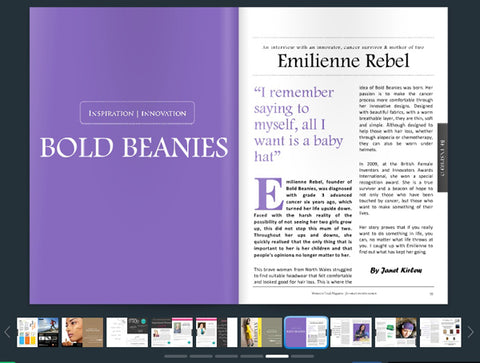 Woman in Trade Magazine Interview with Emilienne Rebel