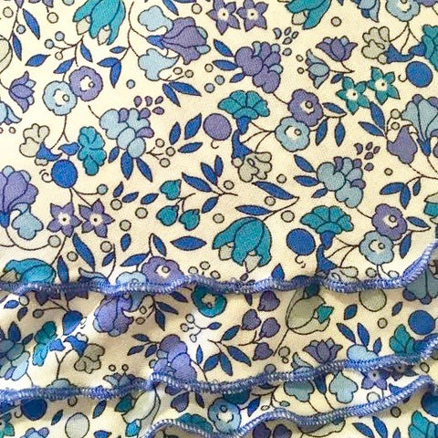 Vintage Liberty Blue Floral Headscarf UK