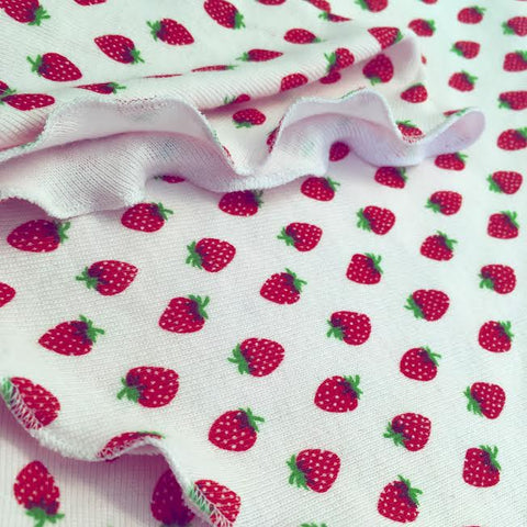 Strawberry Print Cotton Bandana Girls
