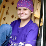 Alice Pyne BEM. Alice's Escapes charity chemo cancer beanie hat