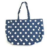 Eco Shopping Bag Large Denim Polka Dot