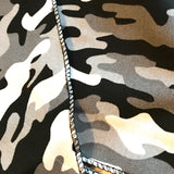 Mens Cotton Bandana in Grey & Black