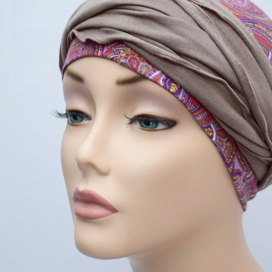 Taupe Brown Women's Cancer Head Wrap