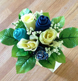 Blue Skies Bold Beanies Gift Bouquet