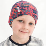 Unisex camouflage Liberty print multi colour cotton beany hat