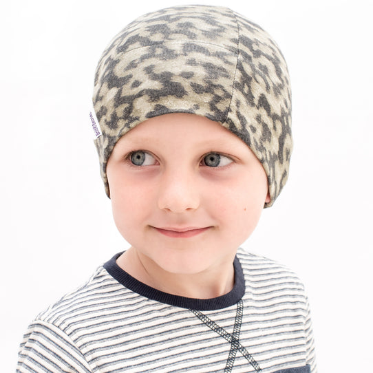 Boys chemo cancer thin breathable beany cotton hat cap camouflage khaki
