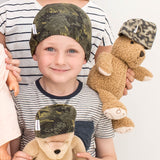 matching kids boy teddy hats for leukaemia cancer chemo hair loss