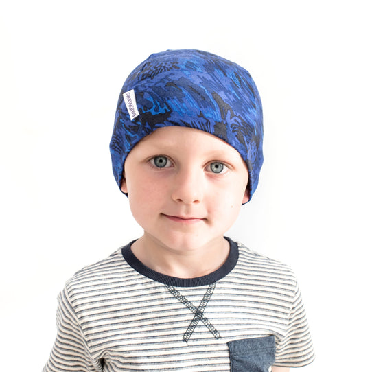 13fa73a78ca Home › Liberty Boy Camouflage Bold Beanies Hat Blue. Blue camouflage cotton  thin stretchy beanie hat