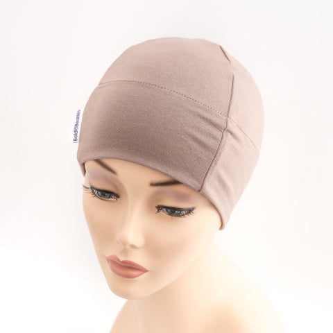 Light Brown Plain Cotton Chemotherapy Hat