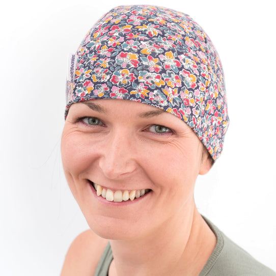 Liberty Floral Print chemotherapy alopecia hair loss hats