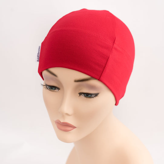 Red Beanie Hat for Cancer
