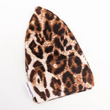 Alopecia Headwear Cancer Hat Leopard Brown Print Caps