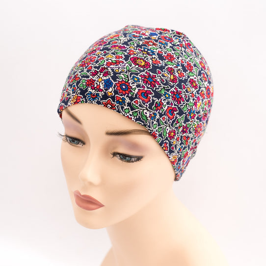 cancer hat liberty floral womens sleep cap