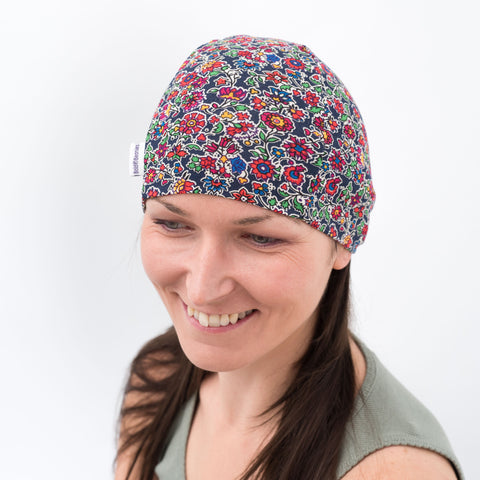 womens thin cotton floral liberty hat headwear