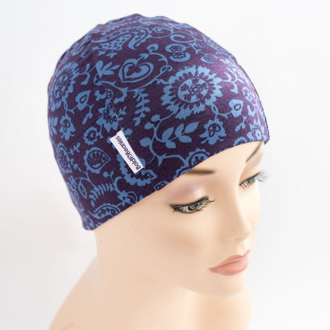 Liberty Darcy Blue floral Print Cancer Hat UK