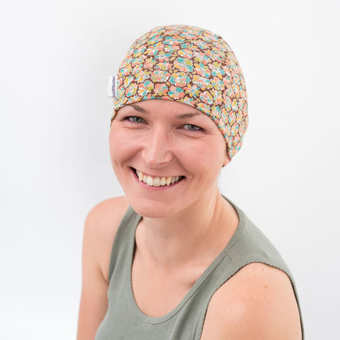 Liberty Amy Hurrel soft jersey cancer beanie hats