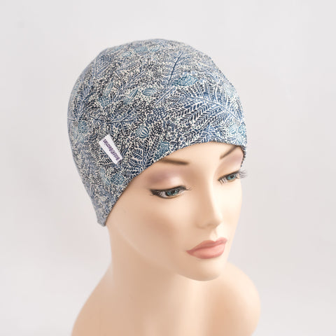 Breast Cancer Hair Loss Hat Liberty Blue Elisa