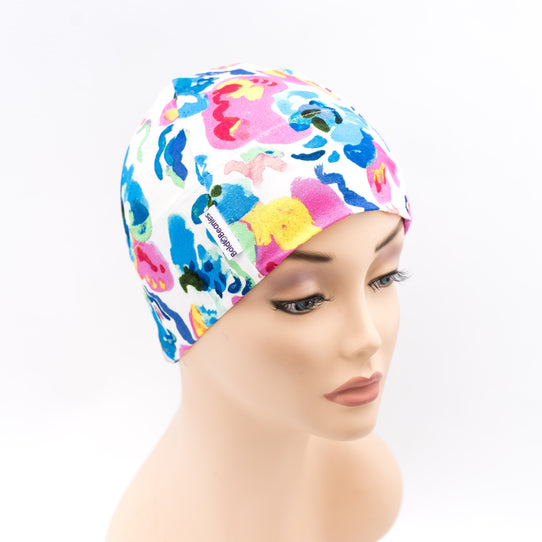 Liberty Summer Thin Cancer Hat White Floral