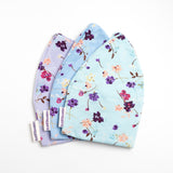 Helen Cancer Bold Beanies floral print aqua, blue and lilac
