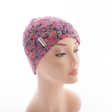 UV Protective Cancer Beanie - Liberty Pink Floral