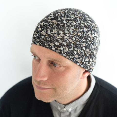 Liberty print chemo cancer alopecia beanie hat for men