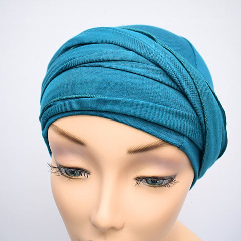Teal Women's Chemotherapy Head Wrap