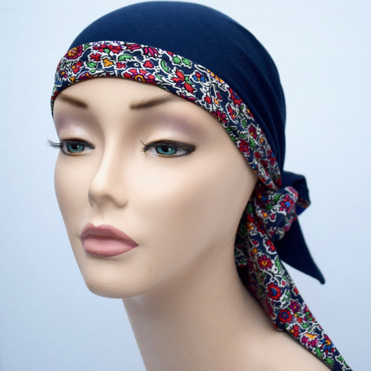 Cancer Headscarf Liberty Print
