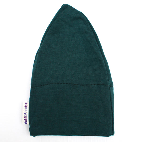 Chemo Headwear Bottle Green Cotton Comfy Hat