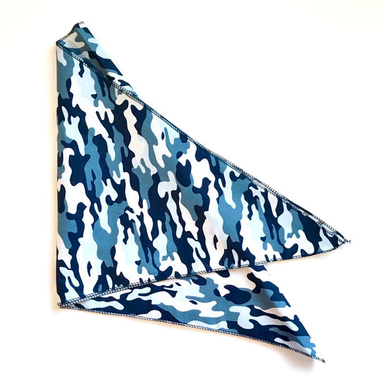 Camo Blue Bandana Cotton UK