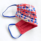 Union Jack Flag Print Cotton Eco Face Mask