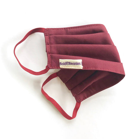 Burgundy Fabric Face Mask UK