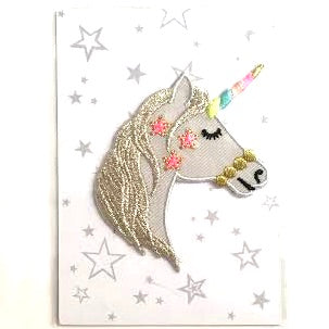 Unicorn Chemo Hat for Girls Iron Patch Cute