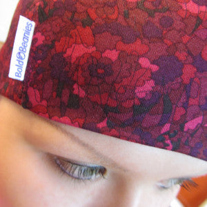 Liberty Damson Bold Beanies Hat Red Pink Purple