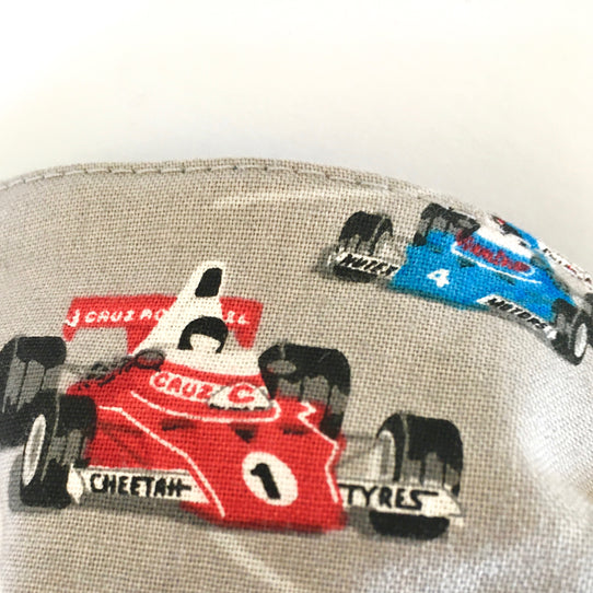 Childs Surgical-Style Face Mask Racing Car
