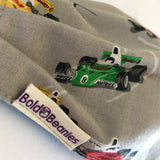 Fun fabric face mask for boys racing car