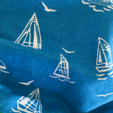 Reversible Cotton Boats Printed Facemask