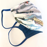 Fighter Plane Print Cotton Washable Face Mask UK