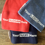 custom your cotton beanie hat with any name slogan or logo