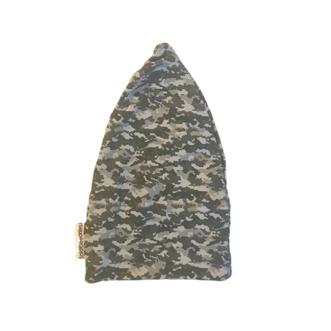 Grey Camo Print Mens Cancer beanie