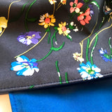 Navy Floral Double Sided Ladies Chemo Headscarf