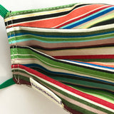 Stripy Green Eco Cotton Fabric Face Mask UK