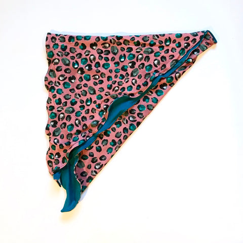 Chemo Headscarf Leopard Pink Teal
