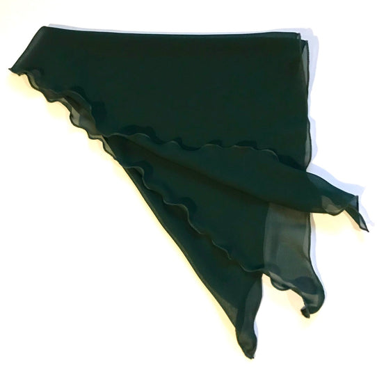 Dark Green Chiffon Cancer scarf