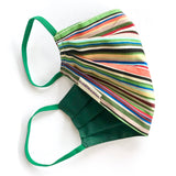 Washable fun face coverings mask stripe