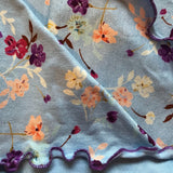 Pretty Ladies Cancer Scarf Blue Floral