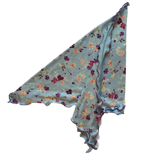 Womens Blue Floral Liberty Cancer Bandana