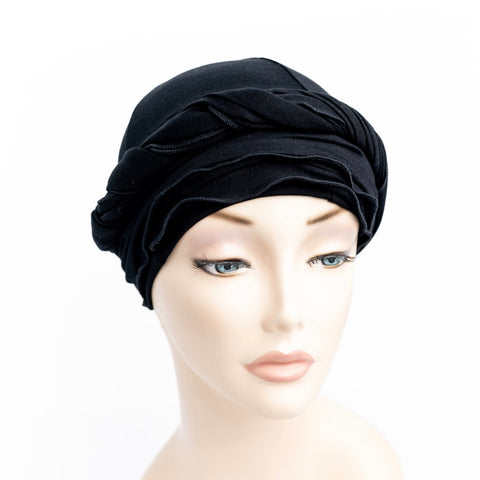 Black Women's Head Wrap for Chemo Hair Loss