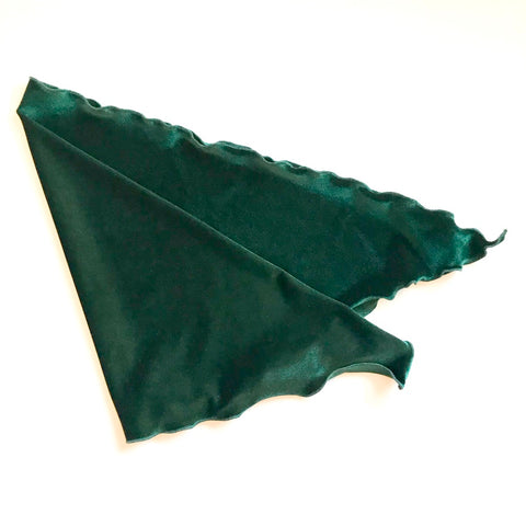 Velvet Headscarf for cancer patients in bottle green