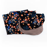 Sezane Floral Print Double Sided Mocha Chemo Head Wrap