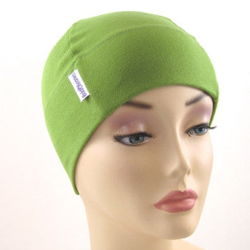 Grass Green Plain Bold Beanies Hat